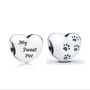 Pandora My Sweet Pet Pet Lover Heart Charm
